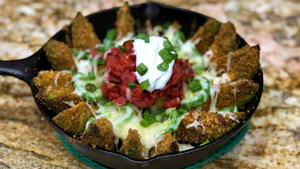 Keto Avocado Nacho Fries Spicy