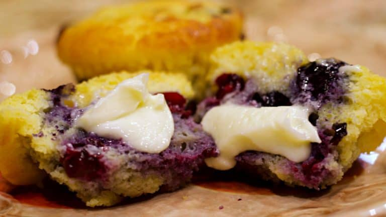 Keto Blueberry Muffin Recipe Wide