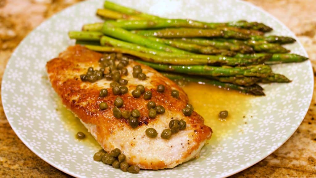 Keto Chicken Piccata Recipe Wide