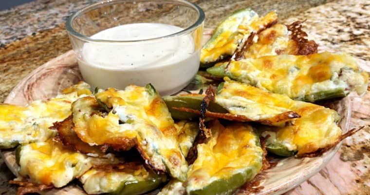 Keto Loaded Jalapeno Skins